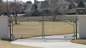 Dual Swing Wrought Iron Gates