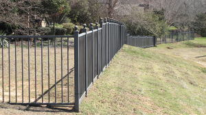 Multilevel Wrought Iron Fence
