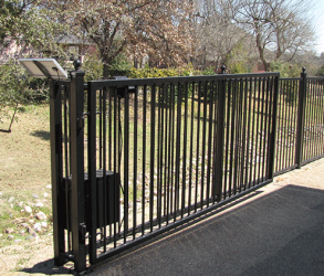 Single Swing Gate with Solar Panel