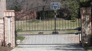 Single Swing Wrought Iron Gate