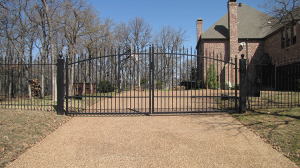 dual-wrought-iron-gates
